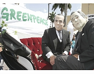 Protesta Greenpeace contra visita de Bush a Mérida
