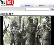 Guerrillas 'combaten' en YouTube