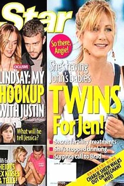 Aseguran que Aniston sí está embarazada y tendrá gemelos