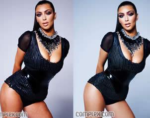 Foto revela celulitis de Kim Kardashian