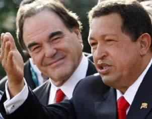 Oliver Stone alaba a Hugo Chávez