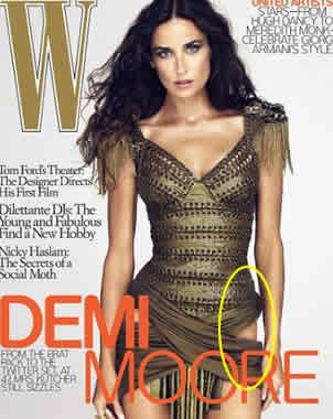 Retoque a Demi Moore levanta revuelo