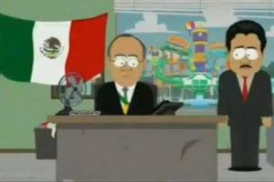 Episodio de <i>South Park</i> y Calderón llega a México