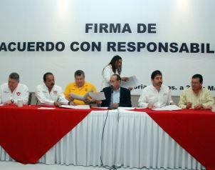 Firman pacto de responsabilidad en Tamaulipas