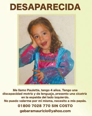 Piden ayuda  para encontrar a Paulette Gebara
