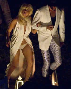 Lady Gaga en ropa interior