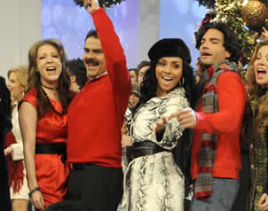 2010-11-30. [ FOTOS ] Grabaciones de los promos navideños de TV Azteca Gonzalezalatorre