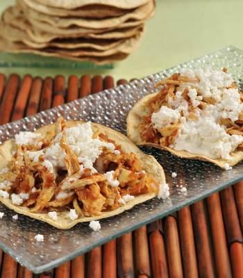 Cocina al natural tostadas de pollo al chipotle taringa - Cocina al natural ...