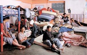 El universal df padecen paso de migrantes for Mural de la casa del migrante