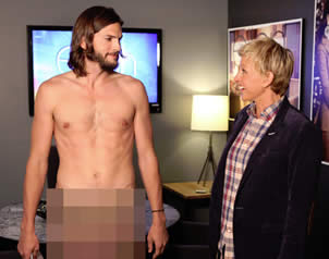 Kutcher desnudo promueve Two and a Half Men