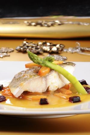 Bacalao con Salsa de Mandarina