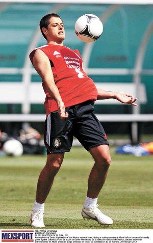 """""""Chicharito"""", otra vez siente nivel goleador"""