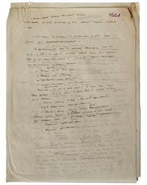 El manuscrito apareci? en un paquete de cartas y aut?grafos del autor que pertenecen a un coleccioni