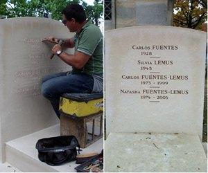 Carlos Mal se encontr? hace 10 meses con el Mausoleo familiar de Carlos Fuentes justo en el momento