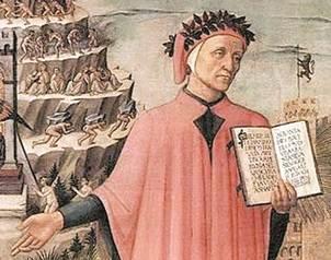 La lengua del escritor Dante Alighieri est� muy empapada de t�rminos en ingl�s, sobre todo en la vid