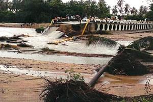 Las lluvias provocaron afectaciones en dos puentes localizados en los municipios de Igualapa y Marq