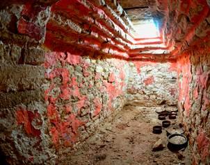 Esta tumba real se encuentra en el interior del Templo XX de esa zona arqueol�gica