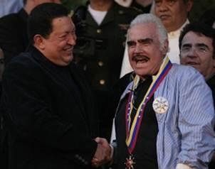 El cantante se reuni� cerca de una hora con el presidente Ch�vez