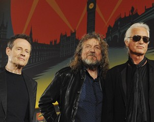 Robert Plant, Jimmy Page y Paul Jones,  integrantes del m�tico grupo Led Zeppelin, reaparecieron.