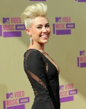 Miley Cyrus ya est� en el Staples Center de Los �ngeles