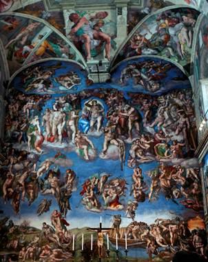 El papa Benedicto XVI planea celebrar los 500 a�os de los frescos la tarde de hoy.