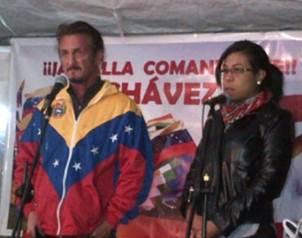 Penn se uni� a la embajadora venezolana, Crisbeylee Gonz�lez