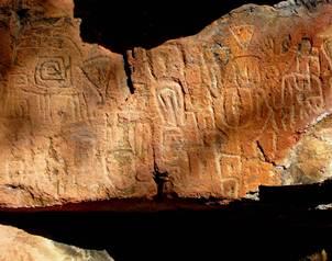 La iconograf�a de las piezas est� vinculada a la tradici�n pict�rica de los grupos del complejo cul