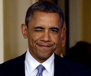 GUIÑO El presidente Obama no ocultó su satisfacción por la aprobación del paquete fiscal esta noche. (Foto: AP )
