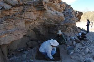 En ese sitio encontraron cientos de huesos de animales, adem�s de cer�mica, l�tica y lugares donde s
