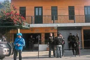 Polic�as guatemaltecos allanaron el 11 de marzo pasado una casa de la noroccidental ciudad guatemalt