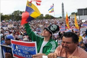 Más de cien arrestos en marcha por reforma migratoria
