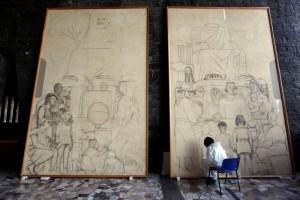 El universal cultura exhiben en eu historia de for Diego rivera lenin mural