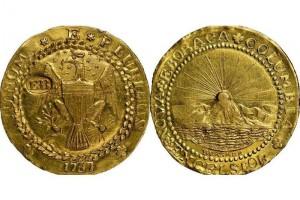 Primera moneda de oro acuñada en Estados Unidos Monedas_rara_subasta-web