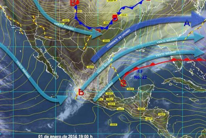 Entra este jueves frente frío 23; prevén lluvias