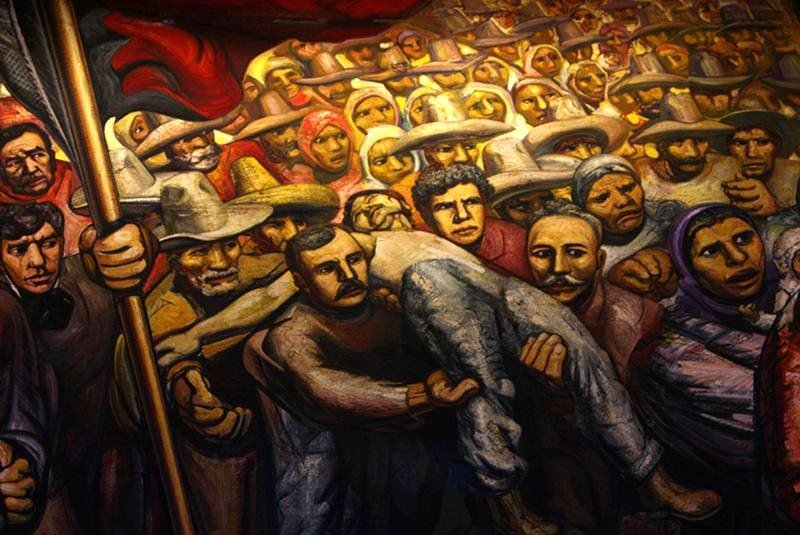 the gallery for david alfaro siqueiros los mitos mural