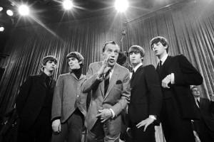 La banda brit�nica durante su primera aparici�n en televisi�n americana en el programa