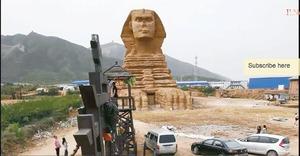 Egipto exige la destrucción de copia china de Esfinge de Guiza