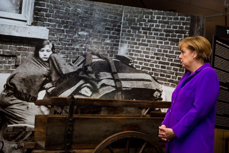 Merkel inaugura magna muestra de la I Guerra Mundial