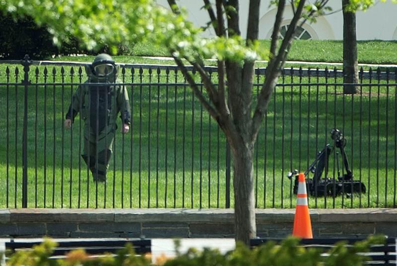 Alerta en Casa Blanca; arrestan a dos por arrojar objetos
