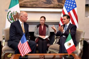 EPN se re�ne con gobernador de California