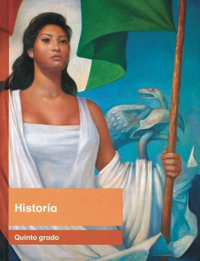 """de """"La Patria"""" para la portada del libro de quinto grado. (Foto"""