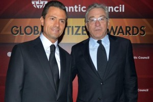 El Presidente Enrique Pe�a Nieto con el actor, productor y director, Robert De Niro