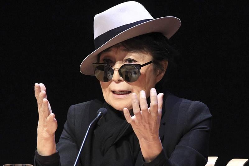 Yoko Ono dona arte en favor de la paz mundial
