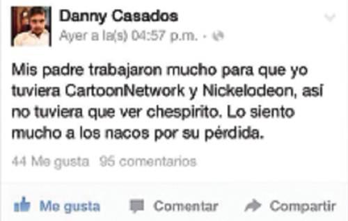 "Líder juvenil dice ""nacos"" a los fans de Chespirito"