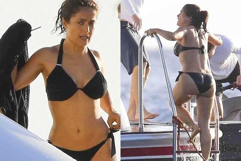 Su y negro bikini americano