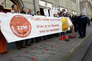 Exigen justicia por normalistas de Ayotzinapa en Madrid
