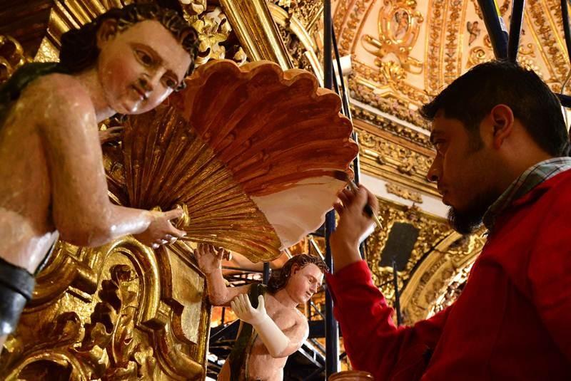 Brilla de nuevo retablo de 300 años de antigüedad - El Universal