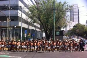 La manifestación de Los 400 Pueblos (En imágenes)