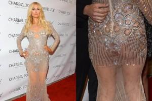Paris Hilton sorprende con su vestido transparente