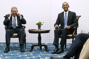 Inicia histórica reunión entre Obama y Castro en la Cumbre